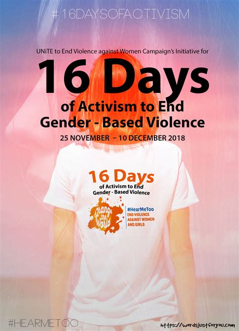16 Days of Activism Poster | Words Just for You! - Free