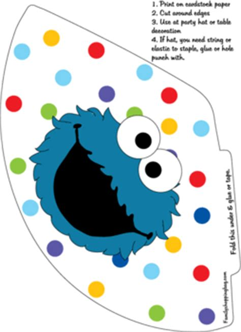 Party Hat 3, Sesame Street, Party Hats - Free Printable