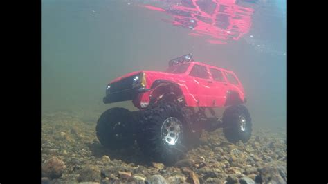 Rc 4x4 test 2 underwater axial ax10 jeep cherokee 4x4