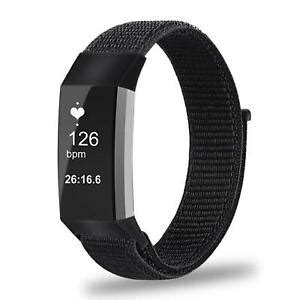 For Fitbit Charge 3 Watch Soft Nylon Sport Loop