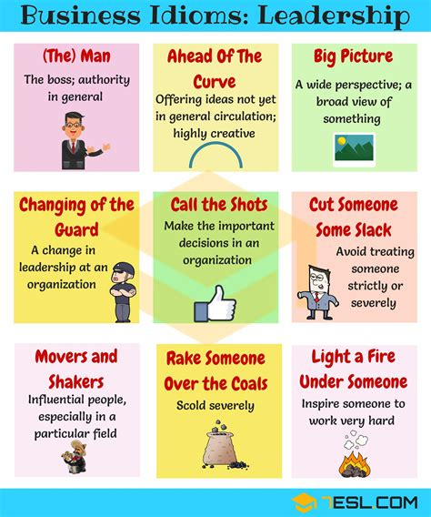 15+ Common Phrases & Idioms About Leadership In English