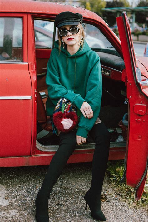 How to wear a hoodie over a dress • Couturezilla