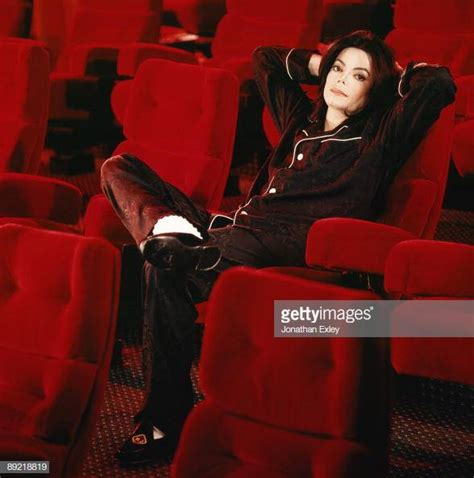 Singer/Songwriter Michael Jackson photographed in his home
