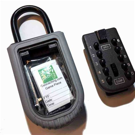 Secure Lockable Geocache Container Puzzle or Muggle Proof