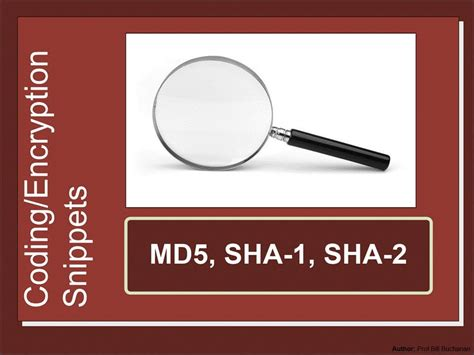 Security Snippets: MD5, SHA-1 and SHA-2 - YouTube