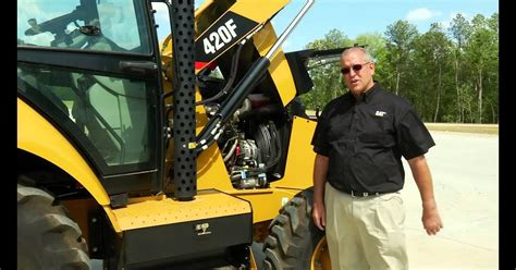 How To Open The Hood On A 420f Cat Backhoe - CatWalls