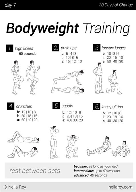 No equipment 30 day workout program   The Best Article