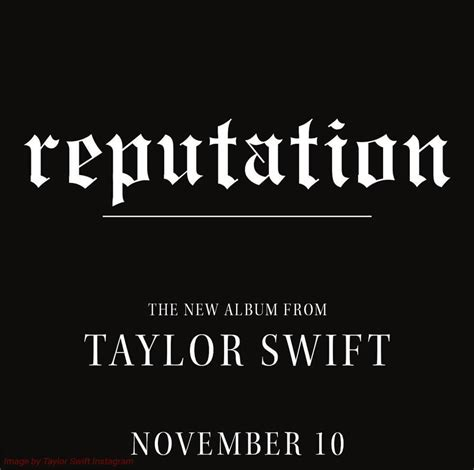 Taylor Swift's New Album 'Reputation' Coming This November