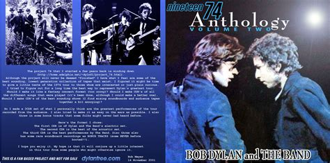 Bob Dylan and The Band: 1974 Anthology