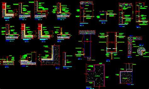 Masonry construction details in AutoCAD   CAD (210