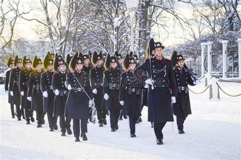 Guard Changing At The Royal Palace In Oslo, Norway