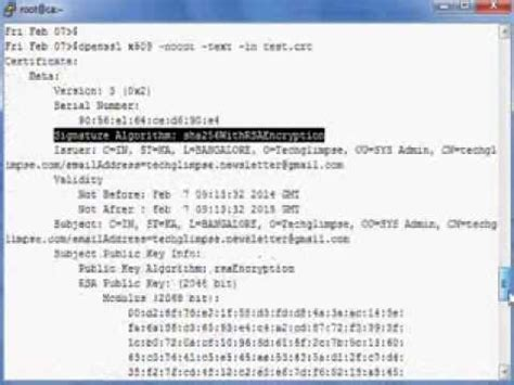 How to generate sha256 hash self-signed certificate using