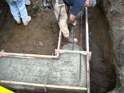 Rebar in the footer - YouTube