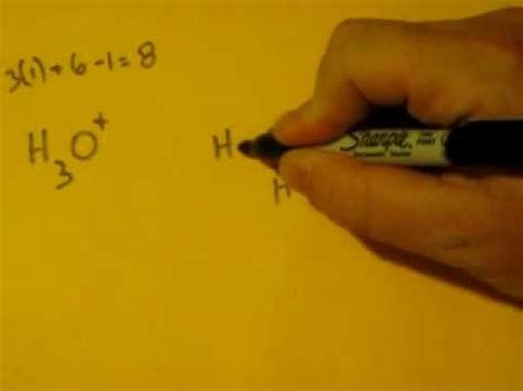 Lewis Dot Structure of H3O+, (Hydronium Ion) - YouTube