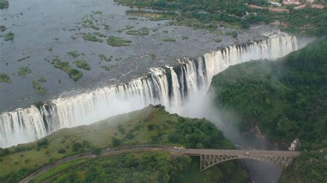 Victoria Falls (Helicopter Aerial View) - Zambia