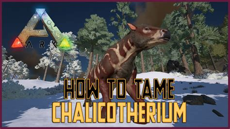 How To Tame Chalicotherium - Ark Survival Evolved - YouTube
